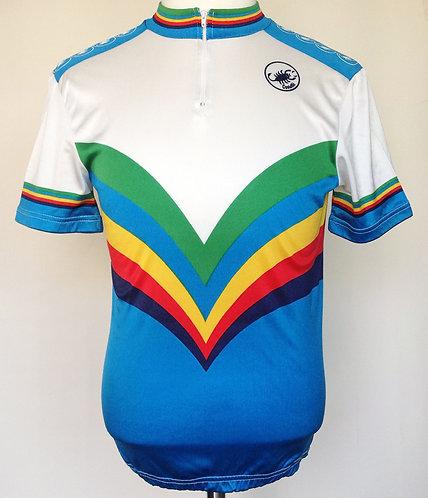 Maillot cycliste vintage Castelli Champion du Monde