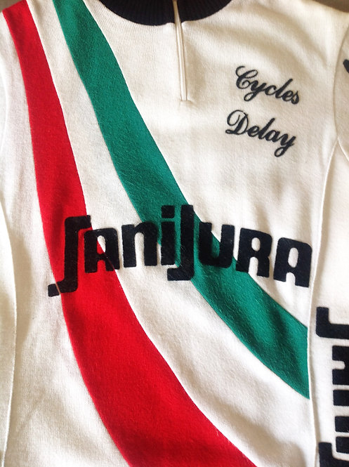 Maillot cycliste vintage Cycles Delay Sanijura
