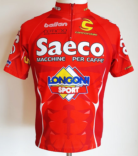 Maillot cycliste Saeco Longoni Sport