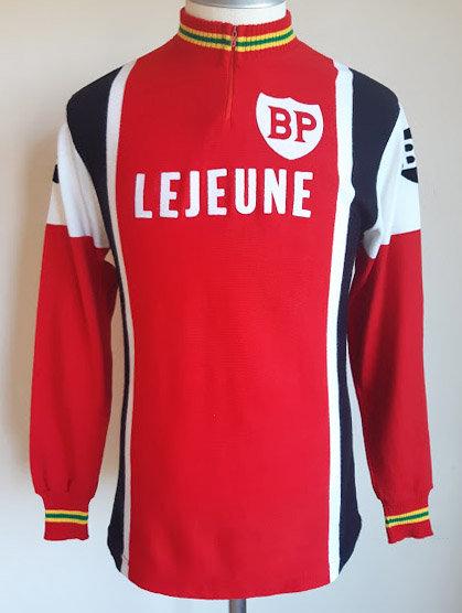 Maillot cycliste vintage BP Lejeune