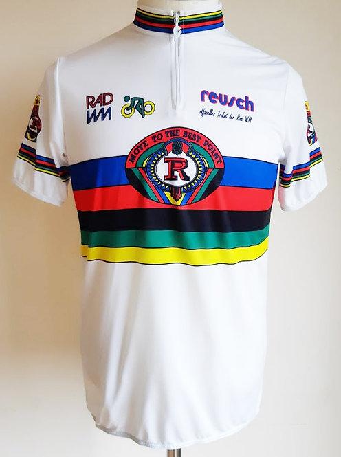 Maillot cycliste vintage Reusch Champion du Monde