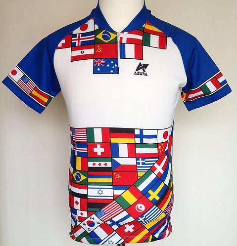 Maillot cycliste vintage Flags