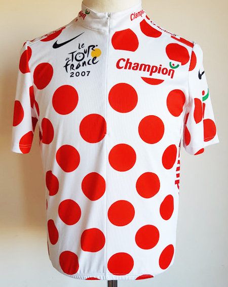 Maillot cycliste Meilleur Grimpeur Tour de France 2007