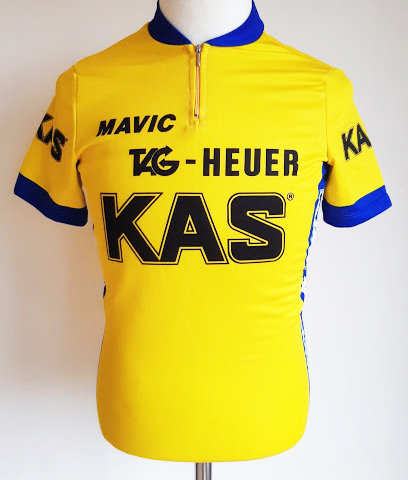 Maillot cycliste Kas Tag Heuer 1986
