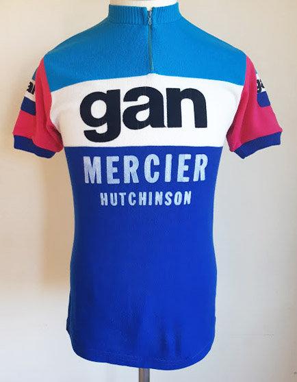 Maillot cycliste vintage Gan Mercier Hutchinson 1976