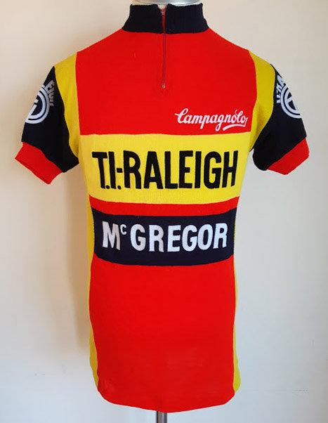 Maillot cycliste vintage TI-Raleigh Mc Gregor