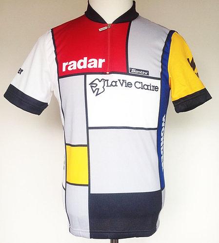Maillot cycliste vintage La Vie Claire Wonder Radar