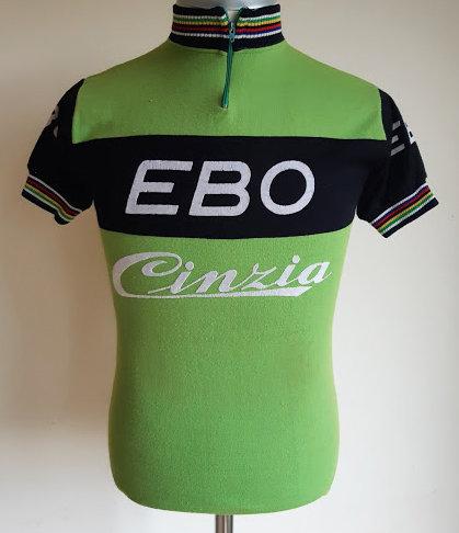 Maillot cycliste vintage Ebo Cinzia 1976