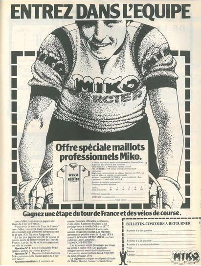 Tricots du Rocher, Telmail, Kopa...les marques de maillots des années 70.