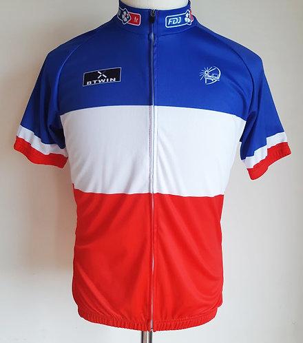 Maillot cycliste Champion de France Française des Jeux