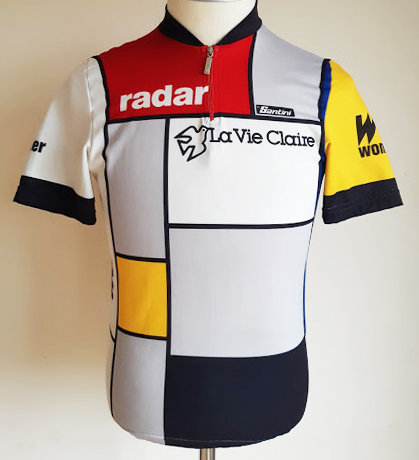 Maillot cycliste La Vie Claire Wonder Radar 1985