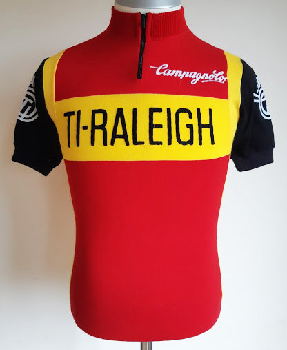Maillot cycliste vintage Ti-Raleigh Campagnolo