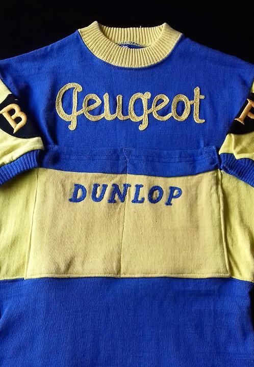 Maillot cycliste Peugeot BP Dunlop 1961