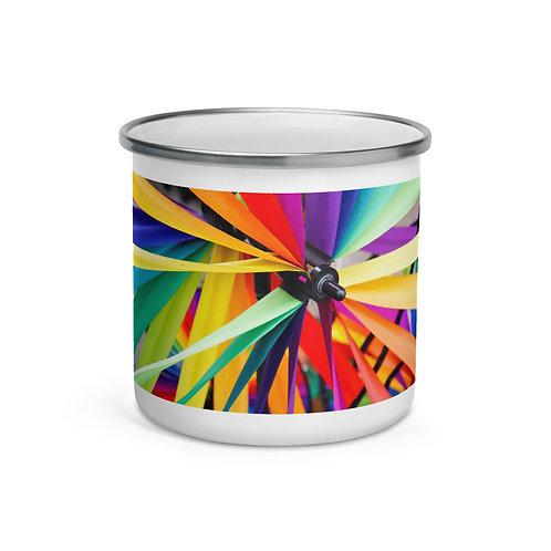Colorful Ribbons Enamel Mug