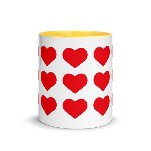 Love Mug with Color Inside Ceramic