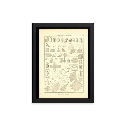 Elements De Geometie III Framed poster