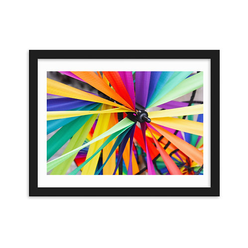 Colorful Ribbons Framed on matte paper