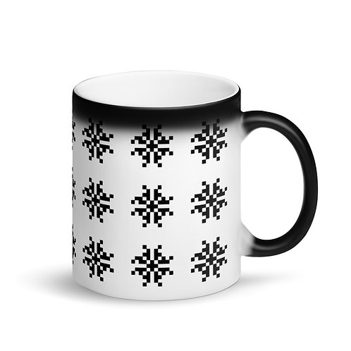 Snow I Matte Black Magic Mug Ceramic