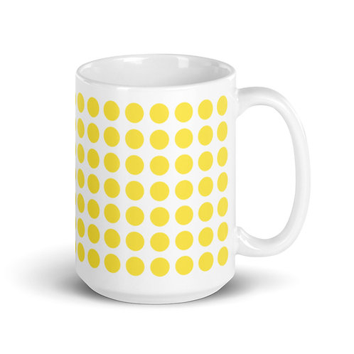 Yellow Dot Mug Ceramic