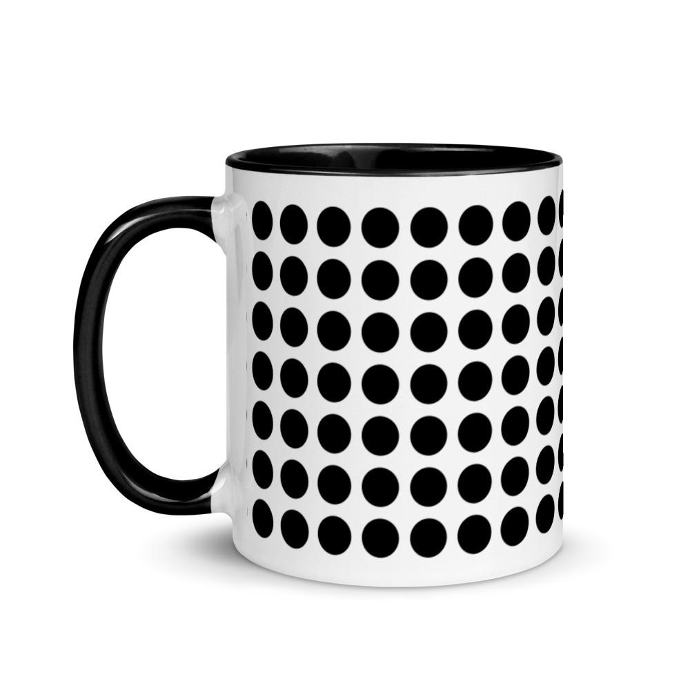 Black-Black dot mug