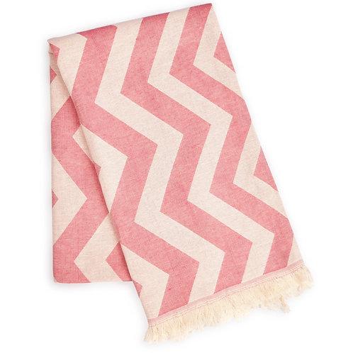 Mersin Chevron Towel / Blanket Pink