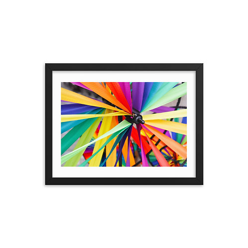 Colorful Ribbons Framed photo paper
