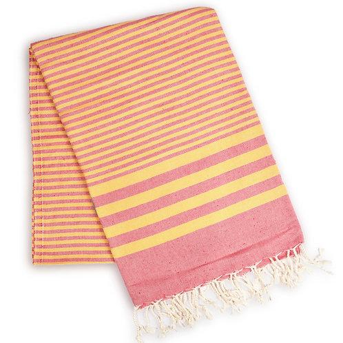 Fethiye Striped Towel - Pink