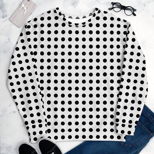 Black Dot Unisex Sweatshirt