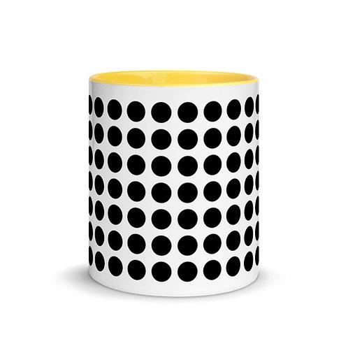 Black Dot Mug with Color Inside Ceramic