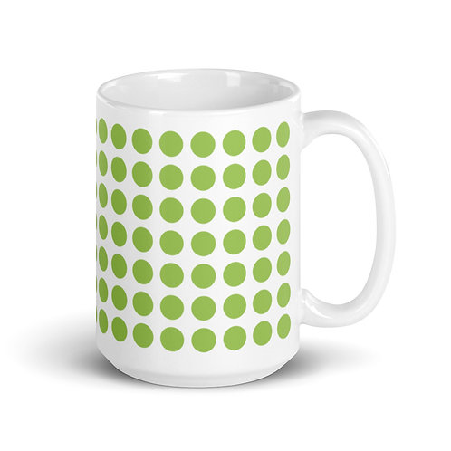 Green Dot Mug Ceramic