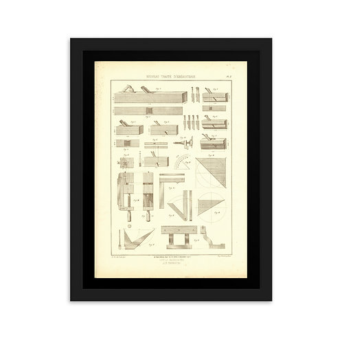 Outils Necessaires aux Ebenistes II Framed on matte paper