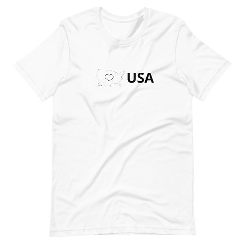 USA Love light colors Short-Sleeve Unisex T-Shirts