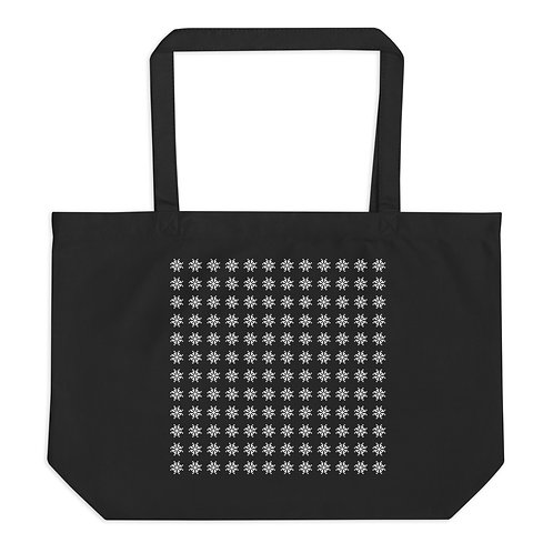 Snow Large organic tote bag