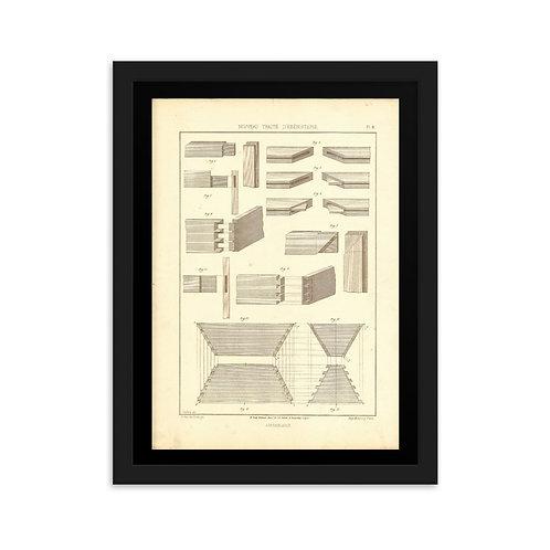 Assemblages Framed on matte paper