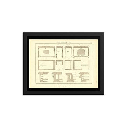 Tables De Fantaisie Renaissance Et Louis XVI Framed poster