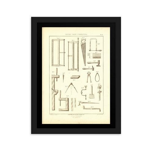 Outils Necessaires aux Ebenistes Framed on matte paper