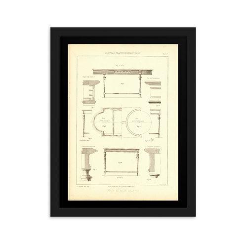 Table De Salon Louis XVI Framed on matte paper