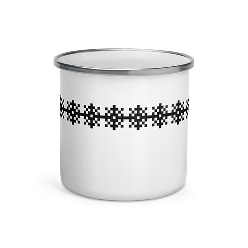 Snow I Enamel Mug