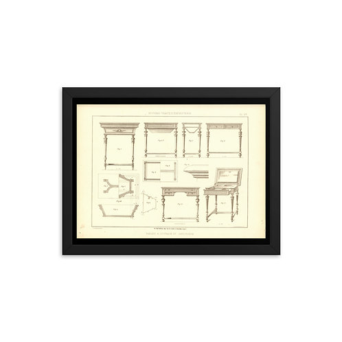 Tables A Ouvrage Et Jardiniere Framed poster