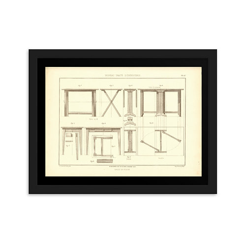 Tables De Cuisine Framed on matte paper