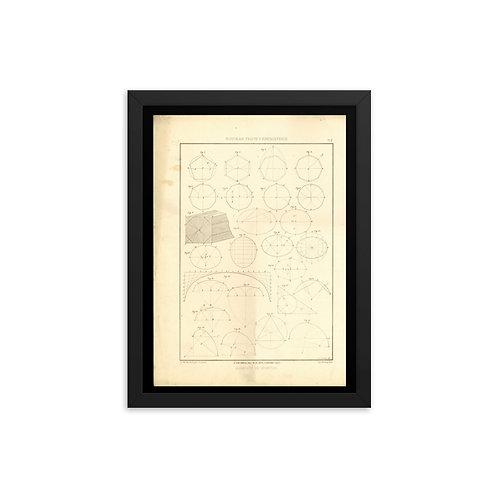 Elements De Geometie II Framed poster