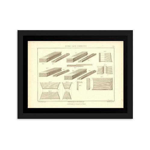 Assemblages et Coulisses De Table Framed on matte paper