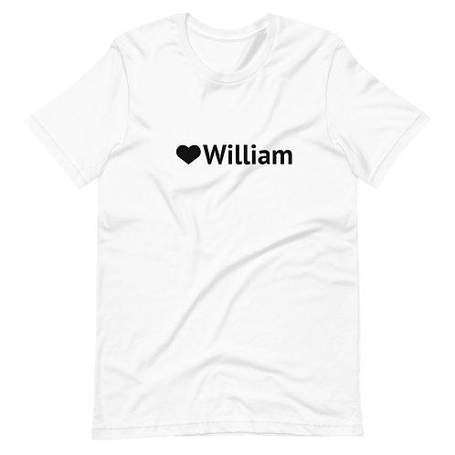 Love William light colors Short-Sleeve Man - Woman - Unisex T-Shirt