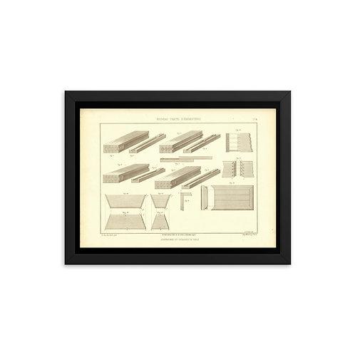 Assemblages et Coulisses De Table Framed poster
