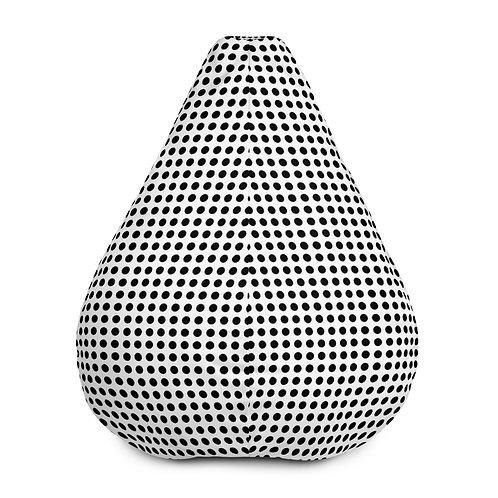 Black Dot Bean Bag Chair w/ filling