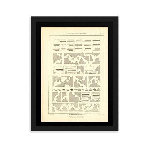 Profils de Moulures II Framed on matte paper
