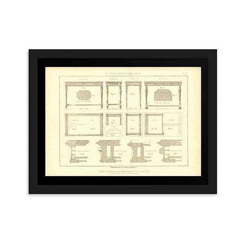 Tables De Fantaisie Renaissance Et Louis XVI Framed on matte paper