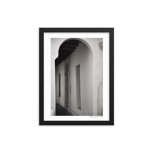 Door Framed photo paper