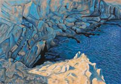 Un bout de mer, des blocs, de la lumière 81 x 116 cm
