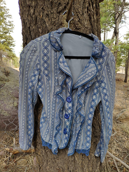 ALL BLUE LACE JACKET